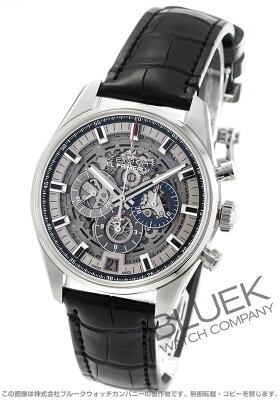 ゼニス Zenith 腕時計 エル プリメロ クロノマスター フルオープン アリゲーターレザー メンズ 03.2081.400/78.C813