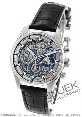 ゼニス エル プリメロ クロノマスター フルオープン クロノグラフ アリゲーターレザー 腕時計 メンズ Zenith 03.2153.400/78.C813