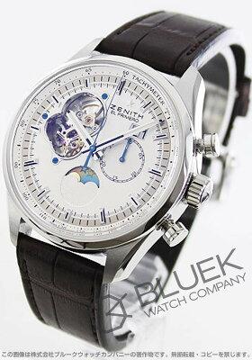 ゼニス Zenith 腕時計 エル プリメロ クロノマスター オープン アリゲーターレザー メンズ 03.2160.4047/01.C713
