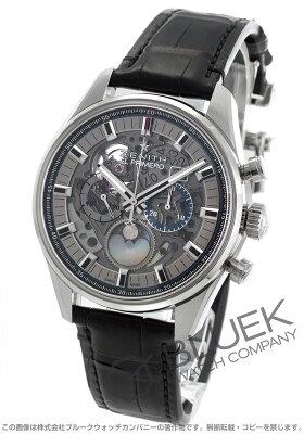 ゼニス Zenith 腕時計 エル プリメロ クロノマスター フルオープン アリゲーターレザー メンズ 03.2530.4047/78.C813