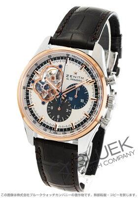 ゼニス エル プリメロ クロノマスター オープン 1969 クロノグラフ アリゲーターレザー 腕時計 メンズ Zenith 51.2080.4061/69.C494