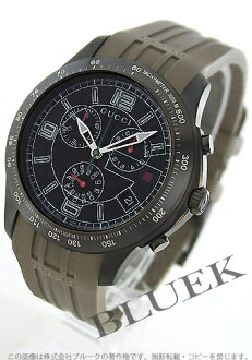Gucci YA126 G timeless chronograph tachymeter rubber Black / Black-mens YA126207