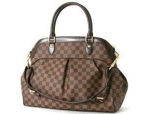 【ハンドバッグ】【新品】ルイヴィトン ダミエ トレヴィGM ハンドバッグ ダークブラウン N51998