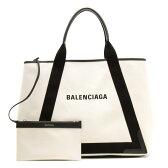 バレンシアガ BALENCIAGA トートバッグ ネイビーカバス NAVY CABAS M ナチュラル&ブラック 339936 AQ38N 1081 レディース