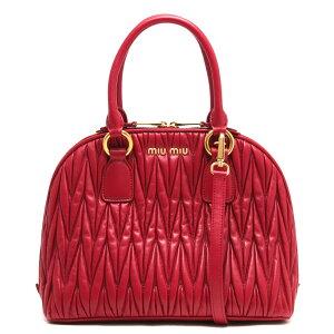 Miu Miu हैंडबैग / कंधे बैग महिलाओं Matrasse Rubino रेड 5BB054 N88 F0041 VOOO MIU MIU