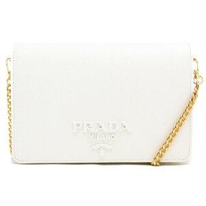 프라다 체인 지갑 / 숄더백 가방 숙녀 Saffiano Lux Bianco 화이트 1BP012 NZV F0009 VDWO 2020 봄 / 여름 새로운 PRADA