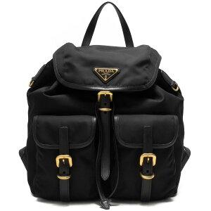 Prada Rucksack/Backpack Bag Ladies Test Soft Calf Triangle Logo Plate Black 1BZ006 QXO F0002 VOOW PRADA