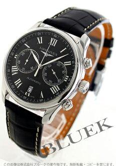 Xmas sale ★ Jin Ron master collection automatic chronograph alligator leather black men L2.629.4.51.7
