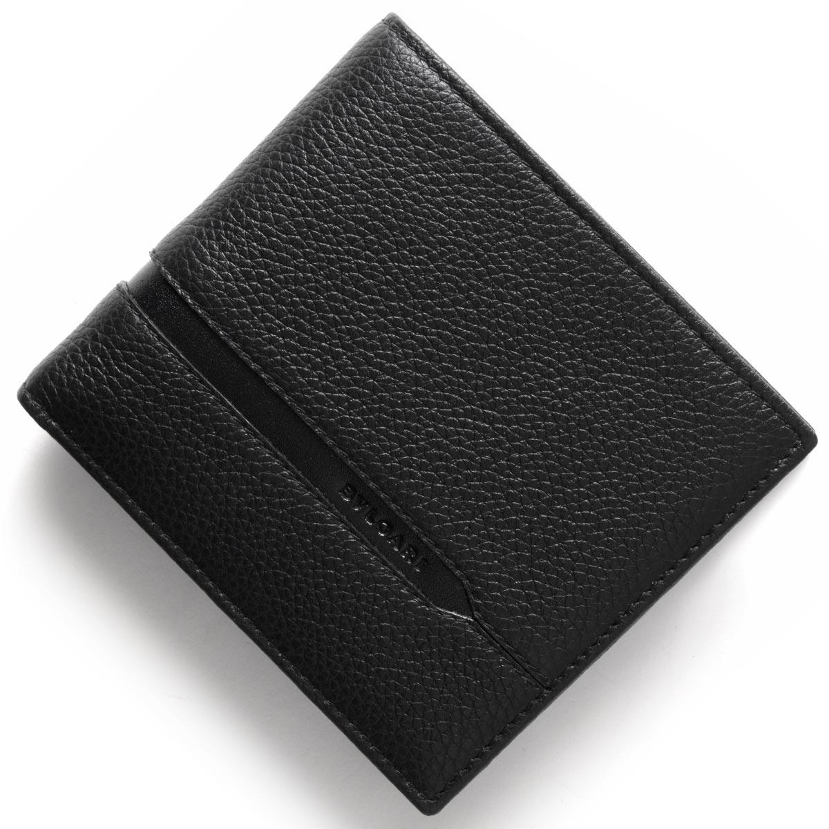 71a228288a1a ブルガリ BVLGARI ルイヴィトン 二つ折り財布 オクト OCTO ブラック ...