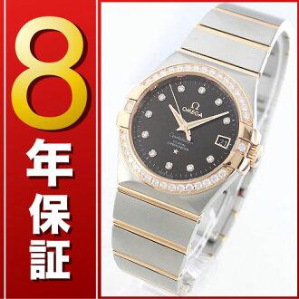 Omega Constellation RG Combi diamond co-axial chronometer Brown men's 123.25.35.20.63.001