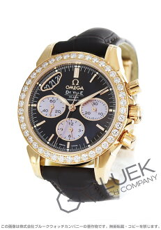 Rakuten Japan sale ★ Omega-Devil RG pure gold DIA Basel coaxial Leather Brown & pink shell Womens 422.58.35.50.13.001