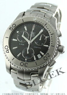 Tag Heuer link 200 m water resistant chronograph black mens CJ1110... BA0576