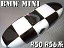 ポイント10倍 BMW MINI ミニ ルームミラーカバー チェッカー...
