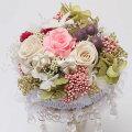 プリザーブドフラワーリングピロー(ピンク)/ウエディングお花のギフト