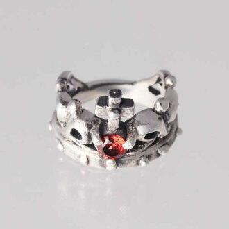 [小指環]王冠的小指1月生日寶石石榴石銀子925戒指簡單的Crown[1號2號~][郵費免費][RCP][支持便利店領取的商品]