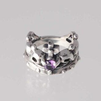 [小指環]王冠的小指2月生日寶石紫水晶銀子925戒指簡單的crown[1號~][郵費免費][RCP][支持便利店領取的商品]