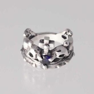 [小指環]王冠的小指9月生日寶石藍寶石銀子925戒指簡單的crown[1號~][郵費免費][RCP][10P03Sep16]