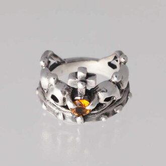 王冠的小指11月生日寶石西特林銀子925戒指簡單的crown