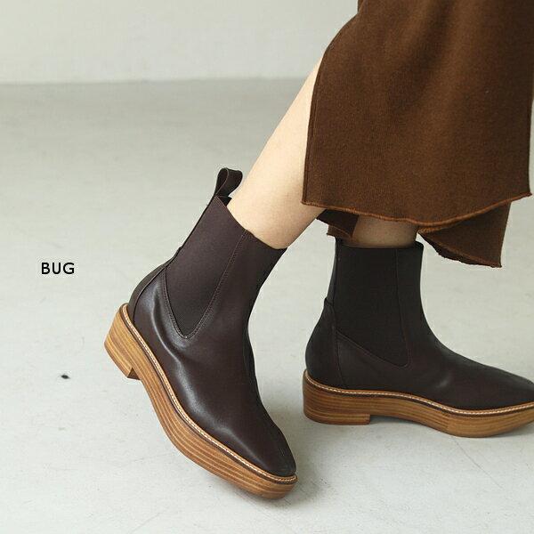 ブーツ, サイドゴア TODAYFUL 20 20 LIFEs Platform Leather Boots 120210092020AW12-1109