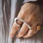 TODAYFUL トゥデイフル 秋冬 20冬 受注会 20秋冬コレクション LIFE's ライフズDouble Finger Ring (Silver925) ダブルフィンガーリング 12020958【2020A/W新作予約】【12月下旬-1月下旬お届け予定】≪10月13日予約開始≫