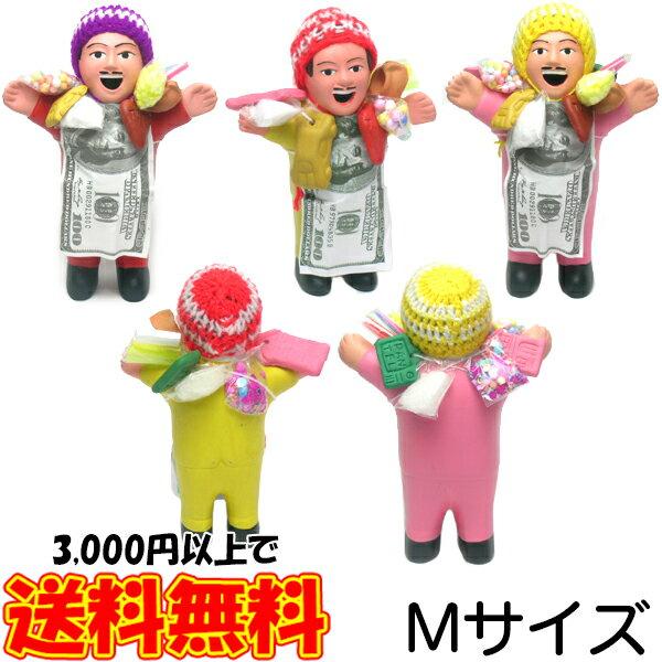 エケコ人形 本物 Mサイズ14cm 幸せを呼ぶ 開運グッズ 開運アイテム ボリビア製ではないペルー産 ピンク 本場 金運アップ