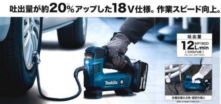 2位:Makita『充電式空気入れ』