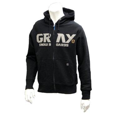 【スノーウエア】GRAY(グレイ)FRONT ZIP PARKA(パーカー) 【350】