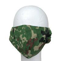 自衛隊グッズ陸上自衛隊迷彩柄布製マスク甚平生地製