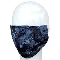 自衛隊グッズ海上自衛隊デジタル迷彩柄布製マスク甚平生地製
