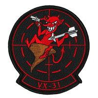 米軍グッズワッペンアメリカ軍VX-31パッチベルクロ付き