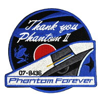自衛隊グッズワッペン第301飛行隊ThankyouPhantomII436号機尾翼パッチベルクロ付き