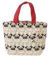 ミニトートバッグ内ポケット付きミツケテパグーパググッズお散歩バッグランチバッグお弁当バッグ帆布バッグパグパグ犬送料無料