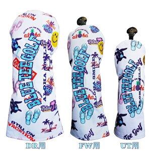 ☆ブルーティーゴルフ BLUE TEE GOLF California 【アロハスマイル ALOHA SMILE】キャットハンド ヘッドカバー3本セット販売