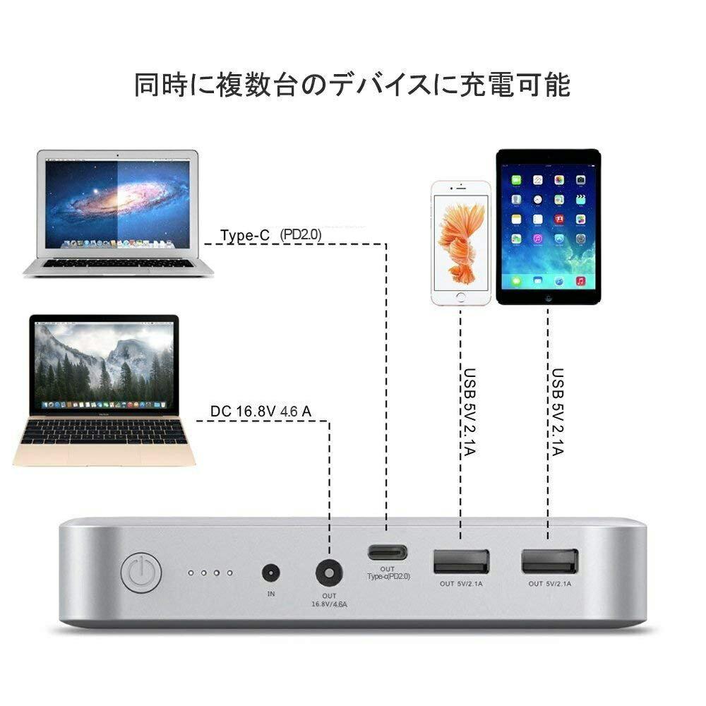 モバイルバッテリー大容量MacBook/MacBookPro/MacBookAir用36000mAh133WhPD対応充電用ケーブル付きTYPE-C対応のノートPC/スマホ/タブレット等対応日常使用/防災セット/停電/地震/夜間/旅行/アウトドアに大活躍PSE認証済BLUETTIMAXOAK