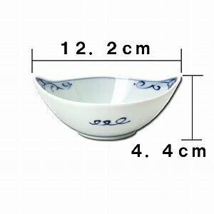 青花舟型小鉢