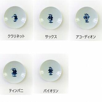 青花丸銘々皿