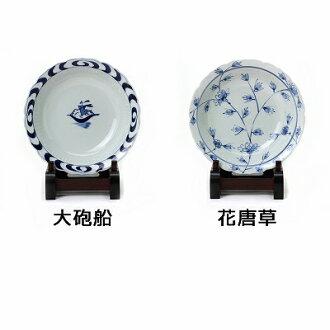 青花桔梗渕スープ皿