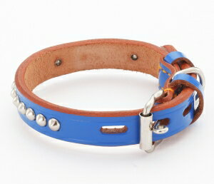 【ペティオ】手縫平首輪中一 24mm ブルー