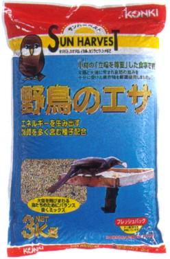 送料込価格【近喜商事】サンハーベスト 野鳥のエサ 3kgx6個(ケース販売)