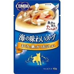 【日本ペット】コンボ キャット 海の味わいスープ まぐろと鯛とかつおぶし添え 40g