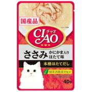 【いなばペット】チャオパウチささみかにかま入りほたて味40g