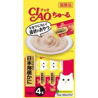 【いなばペット】チャオちゅ〜る とりささみ&日本海産かに 14g×4本