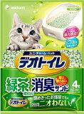 【ユニチャーム】デオトイレ 飛び散らない緑茶成分入り消臭サンド 4L