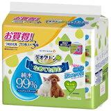 【ユニチャーム】デオクリーン 純水99%ウェットティッシュ つめかえ用 70枚x3個パックx8個(ケース販売)