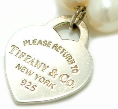 【ジュエリー】TIFFANY&Co.ティファニーリターントゥティファニーブレスレットハートモチーフAG925SV925シルバー淡水パール7-7.5mm【】【k】【Blumin店】
