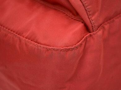 【バッグ】PRADAプラダショルダーバッグナイロンレザーROSSOレッド赤【中古】【k】【Blumin楽天市場店】