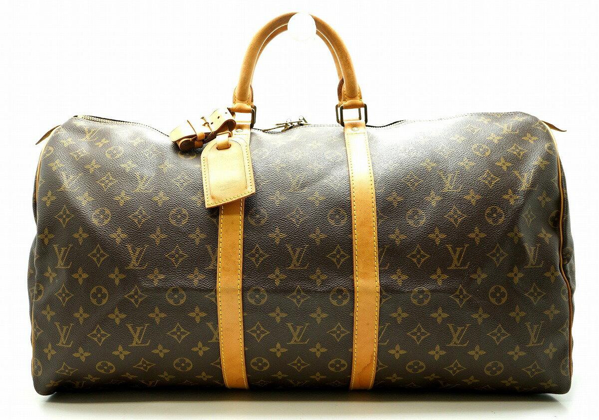 【バッグ】LOUIS VUITTON ルイ ヴィトン モノグラム キーポル55 ボストンバッグ ハンドバッグ 旅行カバン トラベルバッグ トラベルボストン M41424【中古】【k】【Blumin 】:Blumin