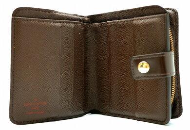 【財布】LOUISVUITTONルイヴィトンダミエコンパクトジップ2つ折財布ラウンドファスナーN61668【】【k】【Blumin店】
