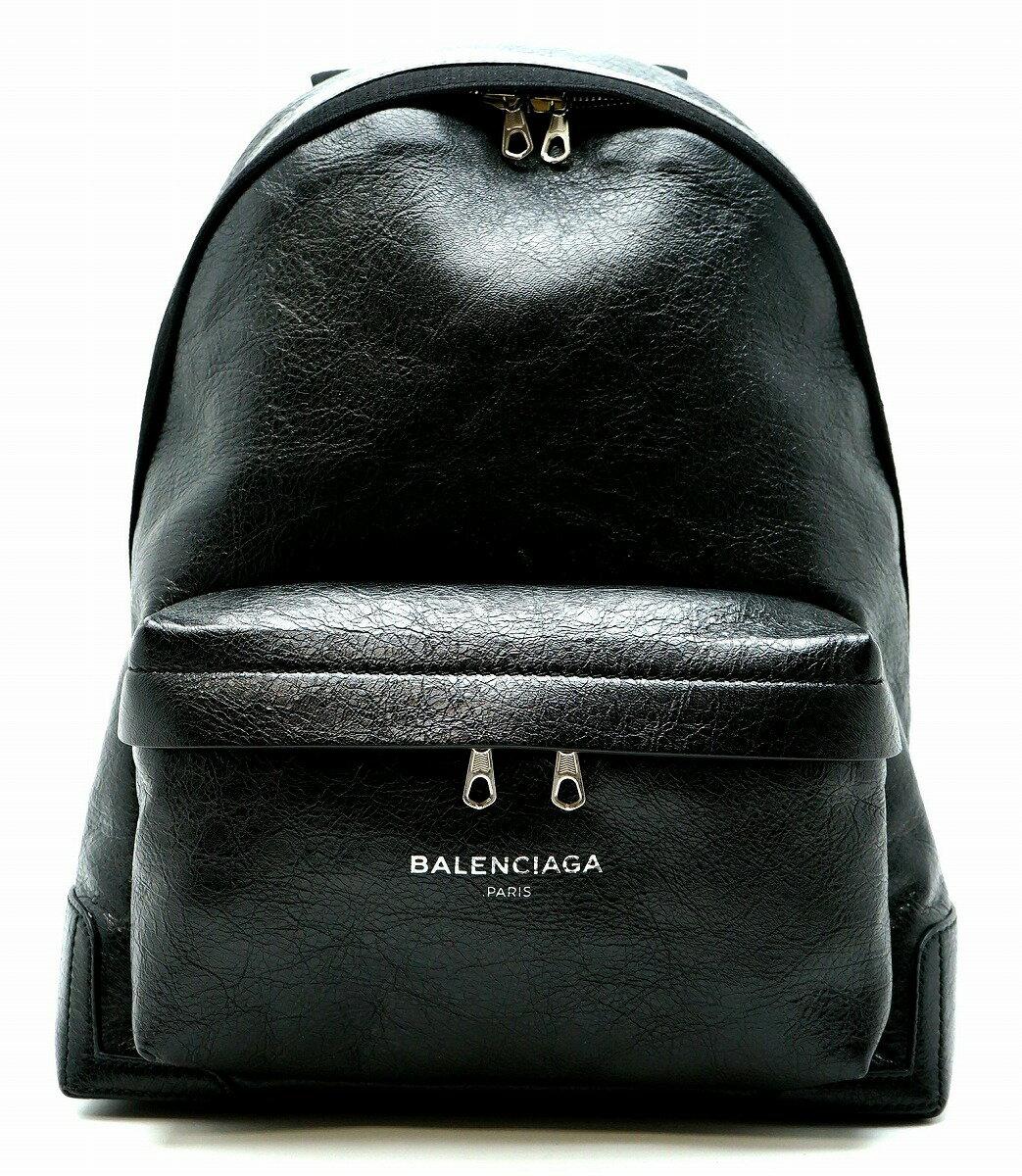 【未使用品】【バッグ】BALENCIAGA バレンシアガ バックパック リュック レザー ノアール 黒 ブラック 409010 1000 D528147【中古】【k】【Blumin 】:Blumin