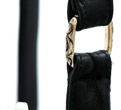 【バッグ】CHROMEHEARTSクロムハーツクロムハーツメンズF・スリンガーレザーショルダーバッグ斜め掛けボディバッグ黒ブラック【中古】【k】【Blumin楽天市場店】